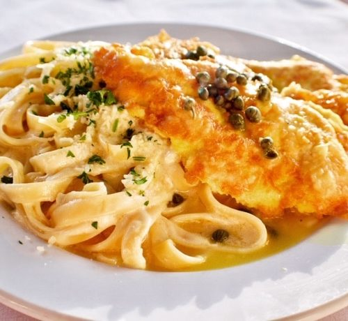 Piccata and Fettuccini